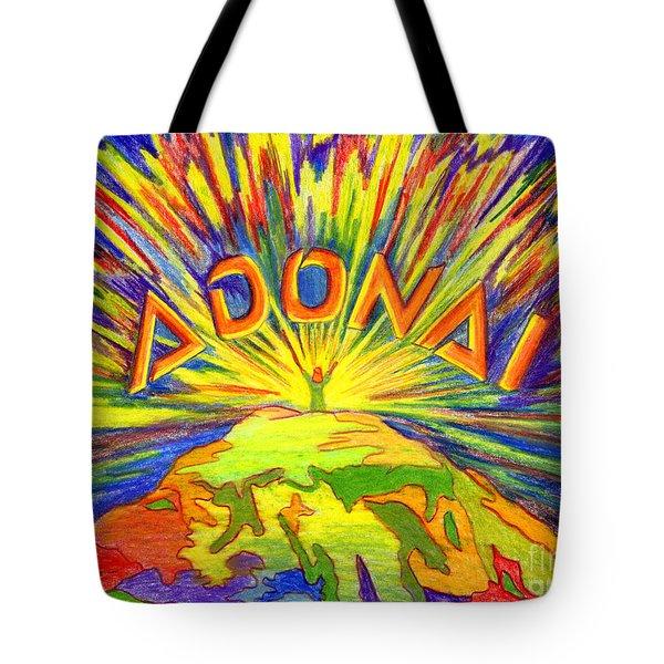 Adonai Tote Bag by Nancy Cupp