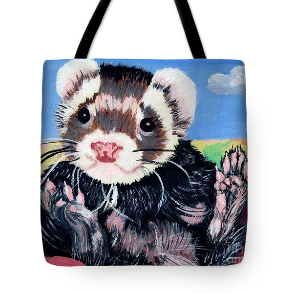 Adorable Ferret Tote Bag by Phyllis Kaltenbach