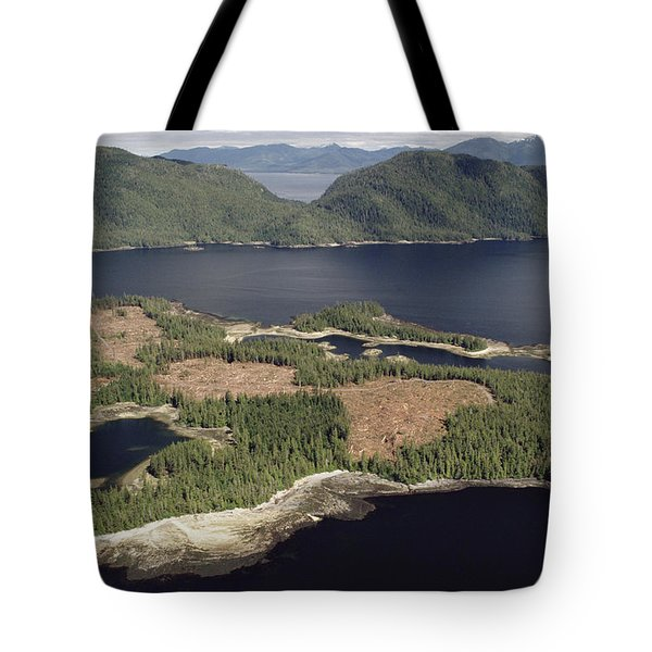 Aerial View Of Clearcut Temperate Tote Bag