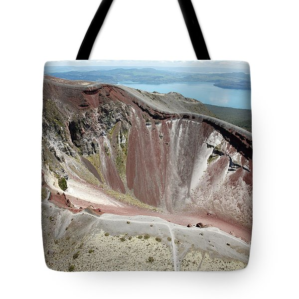 Aerial View Of Rhyolite Dome Complex Tote Bag by Richard Roscoe