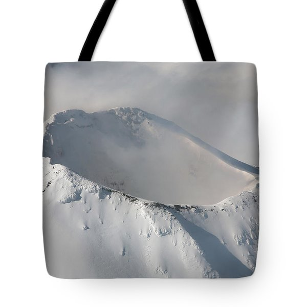 Aerial View Of Summit Of Shishaldin Tote Bag by Richard Roscoe