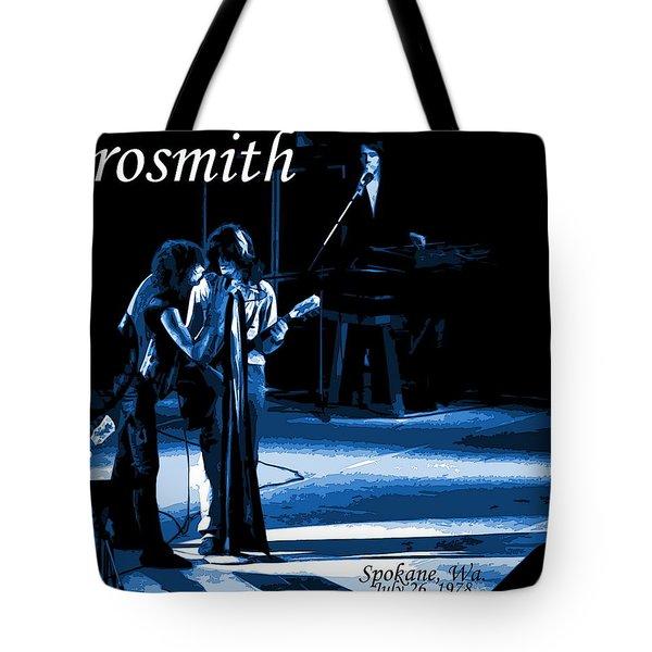 Aerosmith In Spokane 12c Tote Bag by Ben Upham