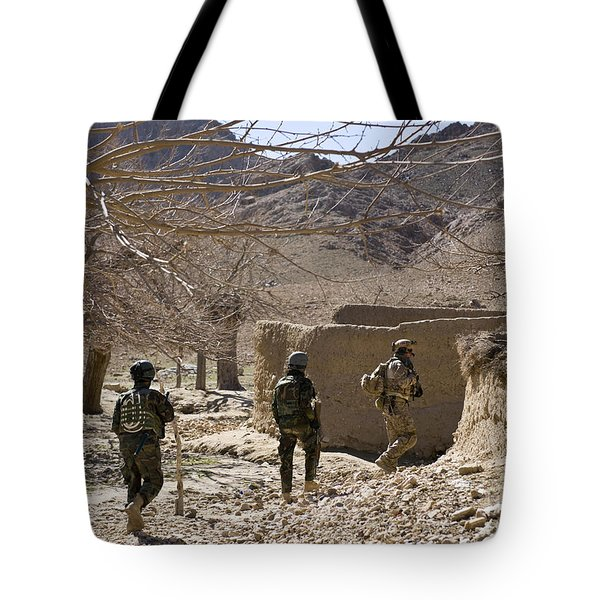 Afghan Commandos Are Guided Tote Bag by Stocktrek Images