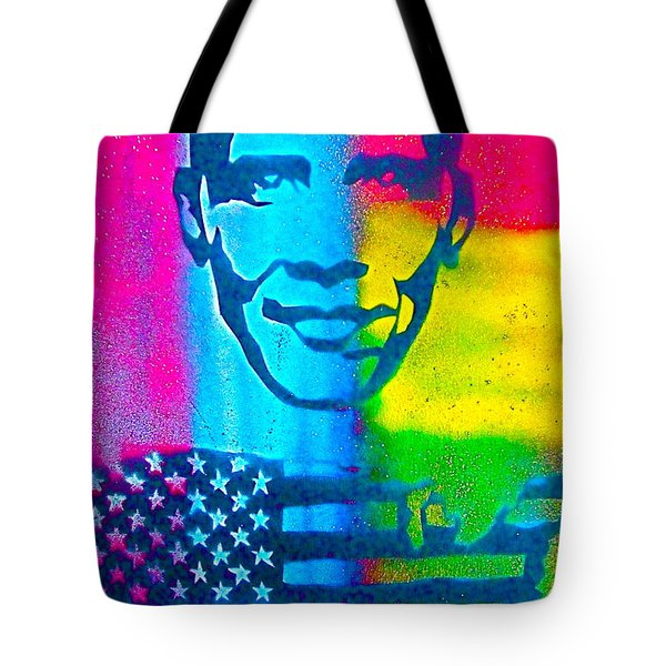 African-american Obama Tote Bag by Tony B Conscious