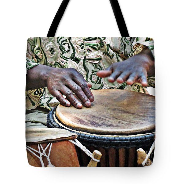 African Drum Rhythm Tote Bag