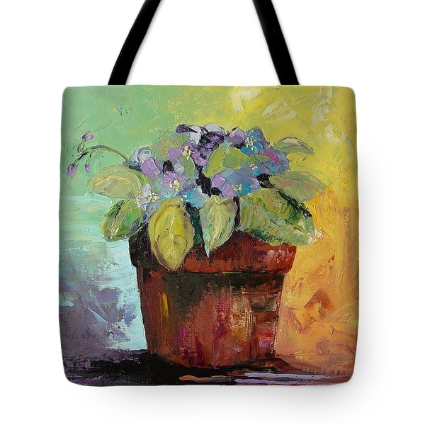 Tote Bag featuring the painting African Violet by Carol Berning