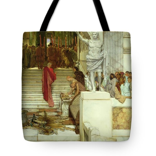 After The Audience Tote Bag by Sir Lawrence Alma-Tadema