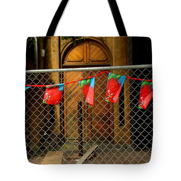 After The Quakes - No Go Zone Tote Bag by Nareeta Martin