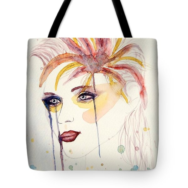 After The Show Watercolor On Paper Tote Bag by Georgeta  Blanaru