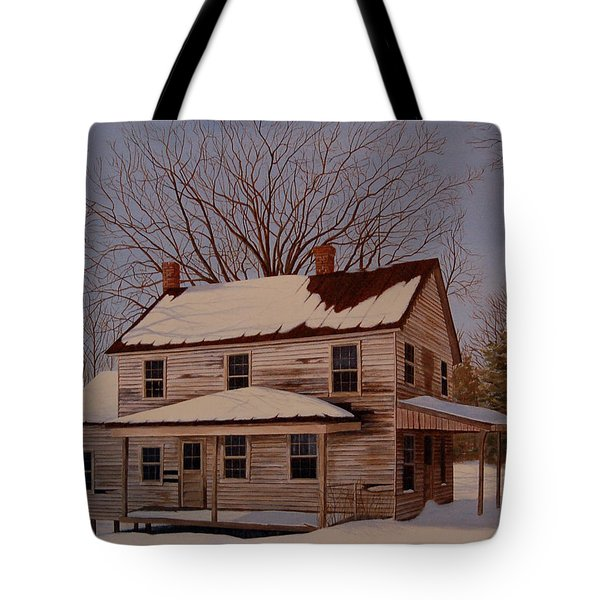 Tote Bag featuring the painting After The Storm by AnnaJo Vahle