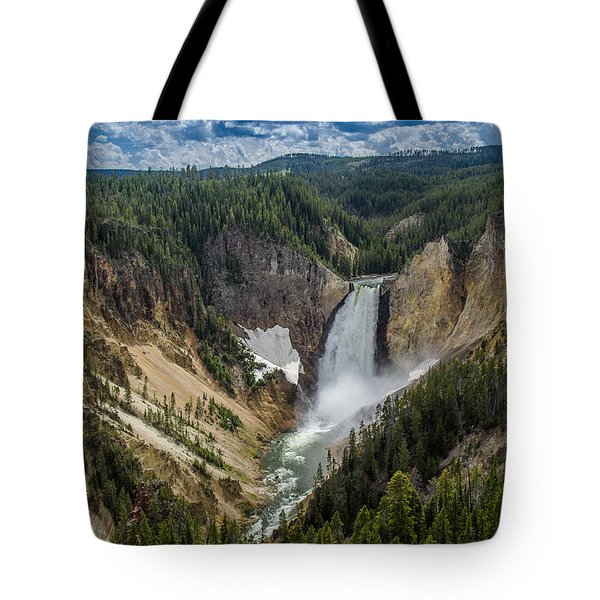 Afternoon At Lower Yellowstone Falls Tote Bag