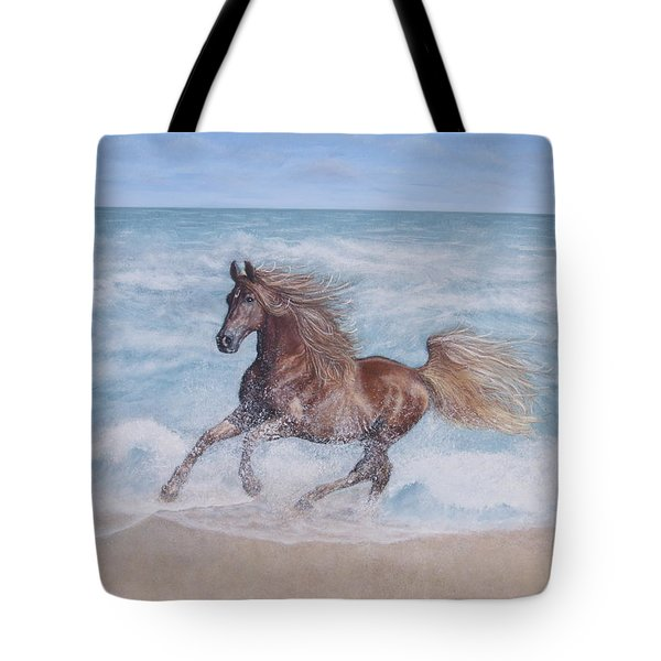Tote Bag featuring the painting Afternoon Frolic by Cindy Lee Longhini