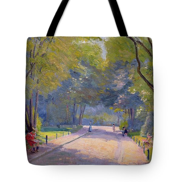 Afternoon In The Park Tote Bag by Hippolyte Petitjean