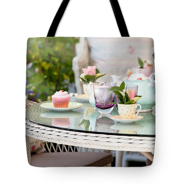 Afternoon Tea And Cakes Tote Bag by Simon Bratt Photography LRPS