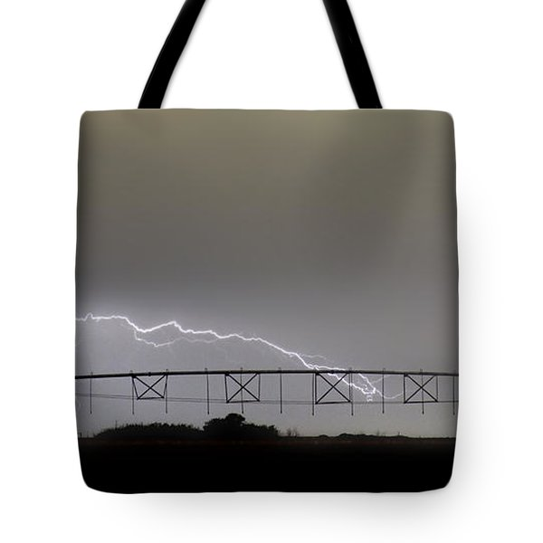 Agricultural Irrigation Lightning Bolts Tote Bag by James BO  Insogna