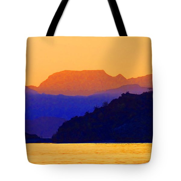 Agua Verde Abstract Tote Bag by Anne Mott