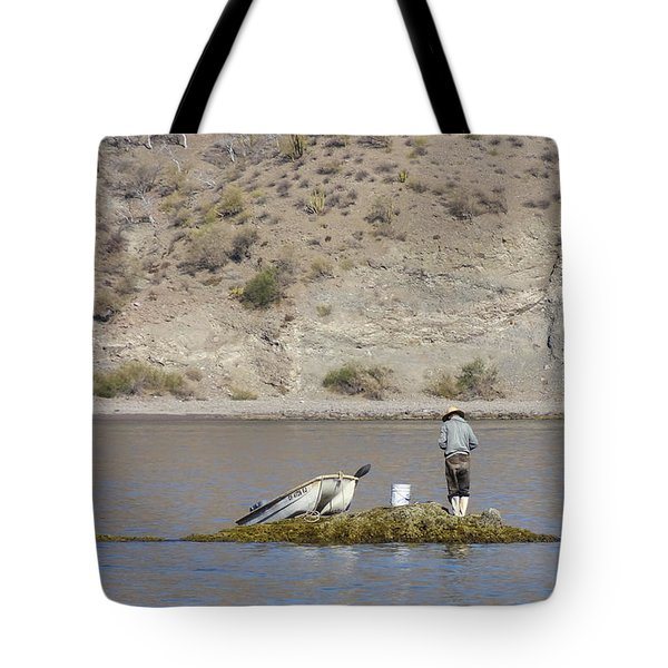 Agua Verde Fisherman  Tote Bag by Anne Mott