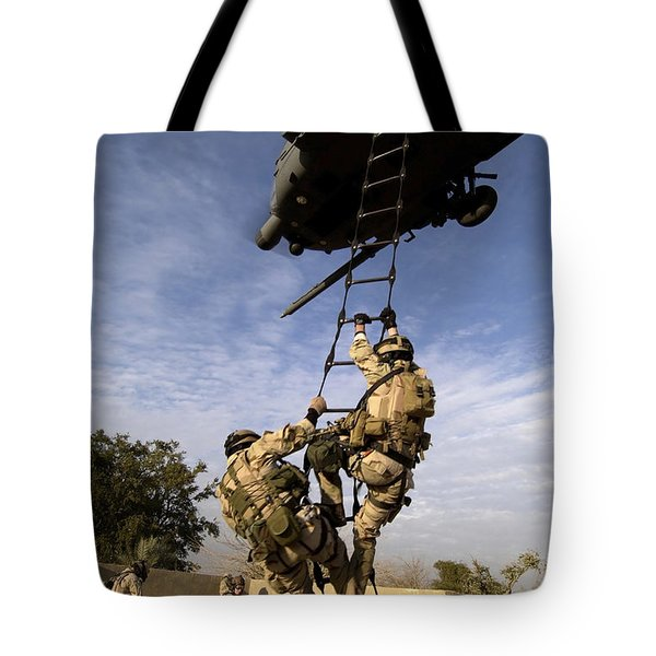 Air Force Pararescuemen Are Extracted Tote Bag by Stocktrek Images