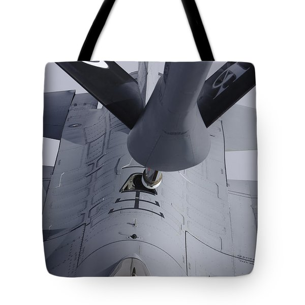 Air Refueling A Norwegian Air Force Tote Bag by Daniel Karlsson