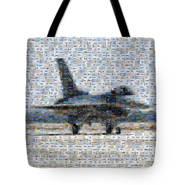 Airforce F-4866 Mosaic  Tote Bag by Darleen Stry