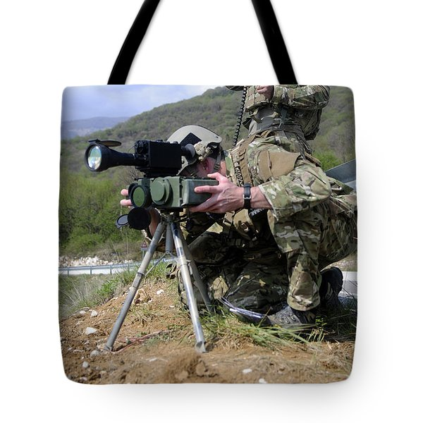 Airmen Participate In A Training Tote Bag by Stocktrek Images
