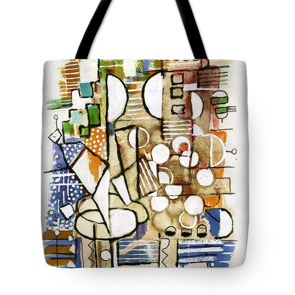 Akko Port Landscape Abstract Blue Green Ocean Water Sun Sky Brown Yellow Colorful City Beach Light Tote Bag by Rachel Hershkovitz