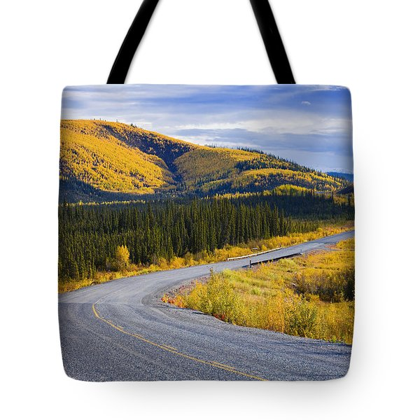 Alaska Highway Near Beaver Creek Tote Bag by Yves Marcoux