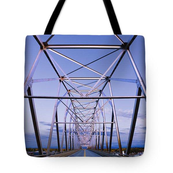 Alaska Native Veterans Honor Bridge Tote Bag by Yves Marcoux