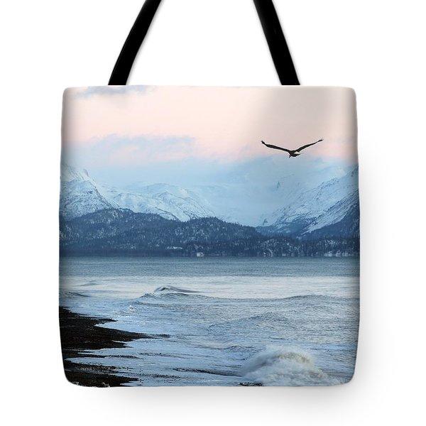 Alaskan Beach At Sunset Tote Bag by Michele Cornelius