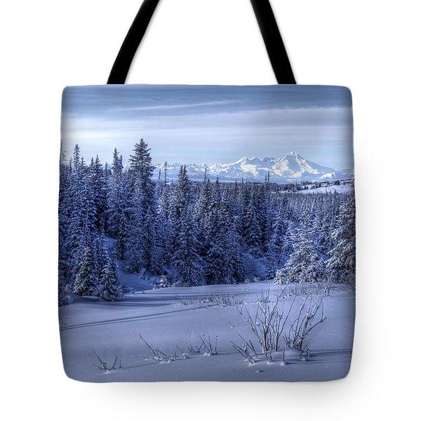Alaskan Winter Landscape Tote Bag by Michele Cornelius