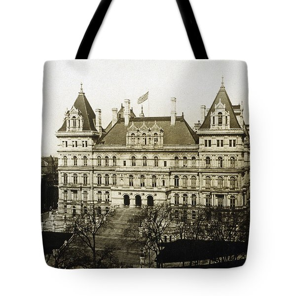 Albany New York - State Capitol Building - C 1900 Tote Bag by International  Images