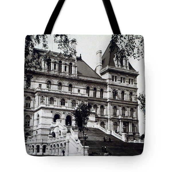 Albany New York - State Capitol Building - C 1903 Tote Bag by International  Images