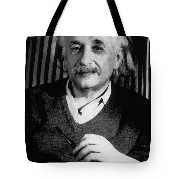 Albert Einstein, German-american Tote Bag by Science Source