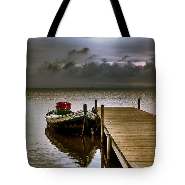 Albufera Before The Rain. Valencia. Spain Tote Bag