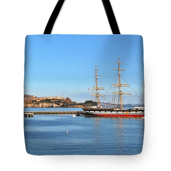 Alcatraz - No Escape Tote Bag by Christine Till
