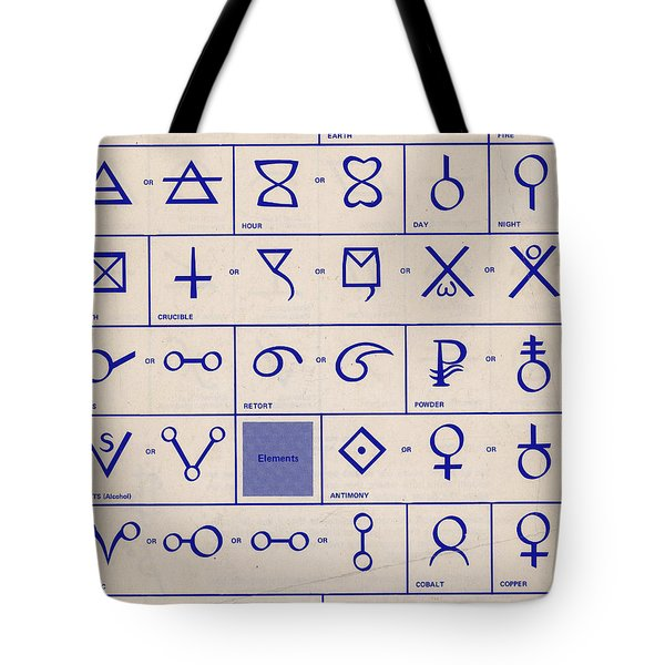 Alchemical Symbols Tote Bag by Science Source