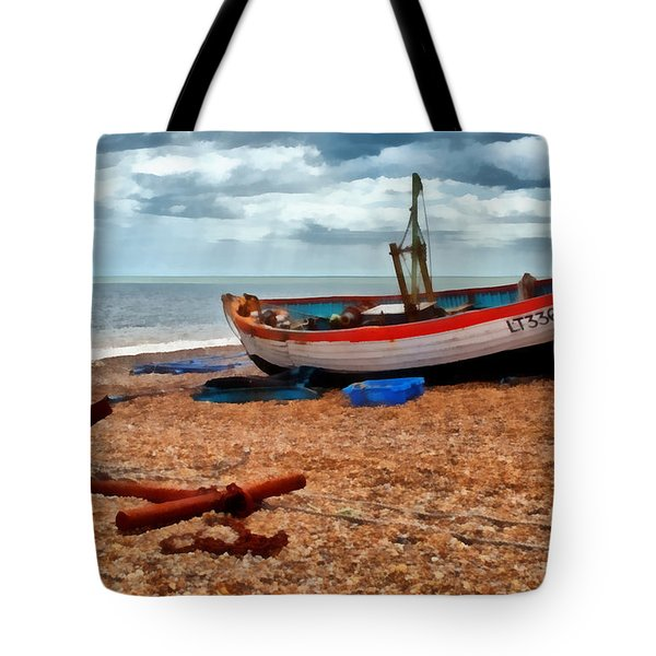 Aldeburgh Fishing Boat Tote Bag