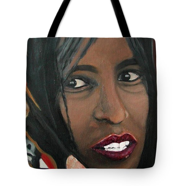 Tote Bag featuring the painting Alem E. W. by Anna Ruzsan