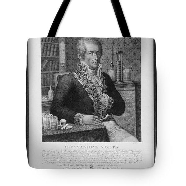 Alessandro Volta, Italian Physicist Tote Bag by Omikron