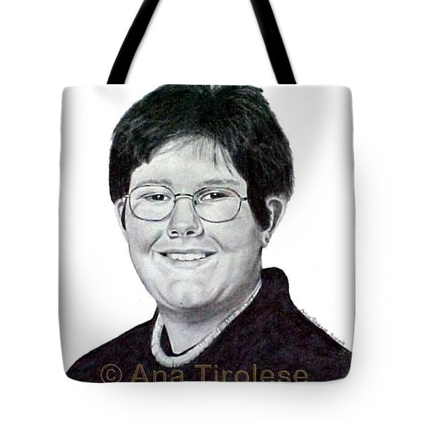Tote Bag featuring the drawing Alexander Tirolese by Ana Tirolese