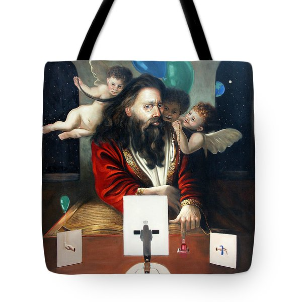 Alfa And Omega Tote Bag by Anthony Falbo
