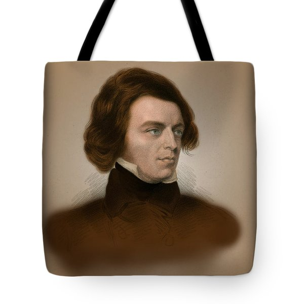 Alfred, Lord Tennyson, English Poet Tote Bag by Science Source