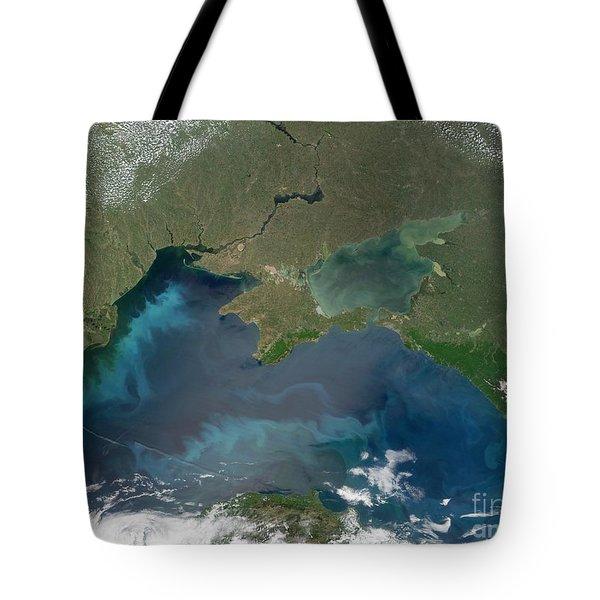 Algal Blooms In The Black Sea Tote Bag by NASA / Science Source