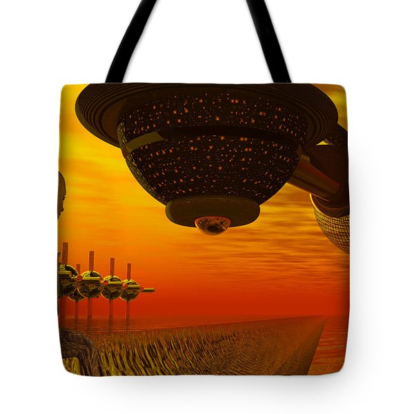 Alien Homecoming Tote Bag