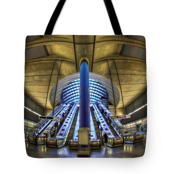 Alien Landing Tote Bag by Evelina Kremsdorf