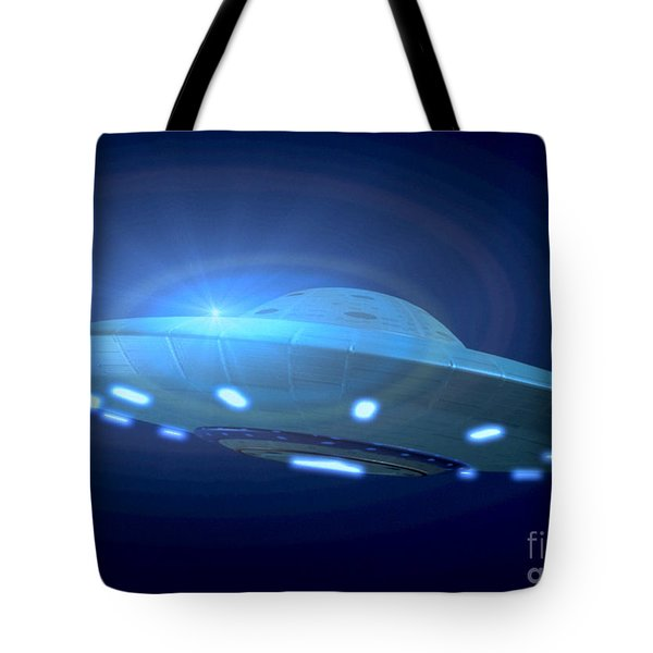 Alien Spacecraft Tote Bag by Gregory MacNicol and Photo Researchers