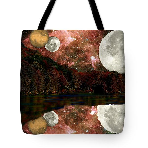Alien World Tote Bag by Sarah McKoy