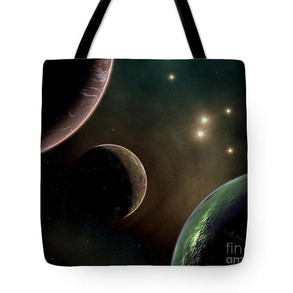 Alien Worlds That Orbit Different Types Tote Bag by Mark Stevenson