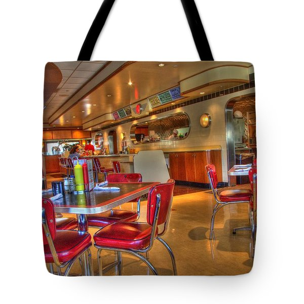 All American Diner 5 Tote Bag by Bob Christopher