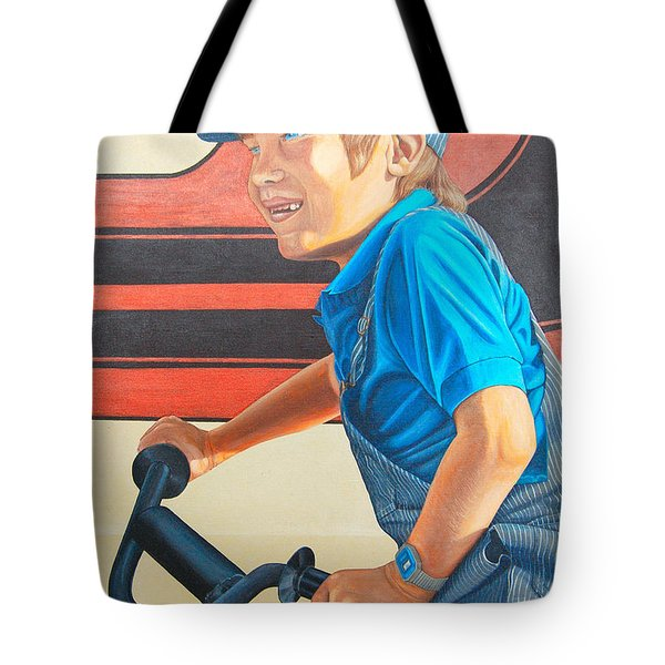 Tote Bag featuring the painting All I Want For Christmas by AnnaJo Vahle